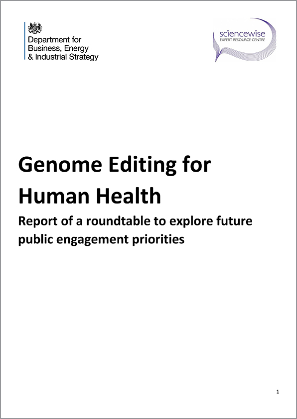 Genome Editing for Human Health